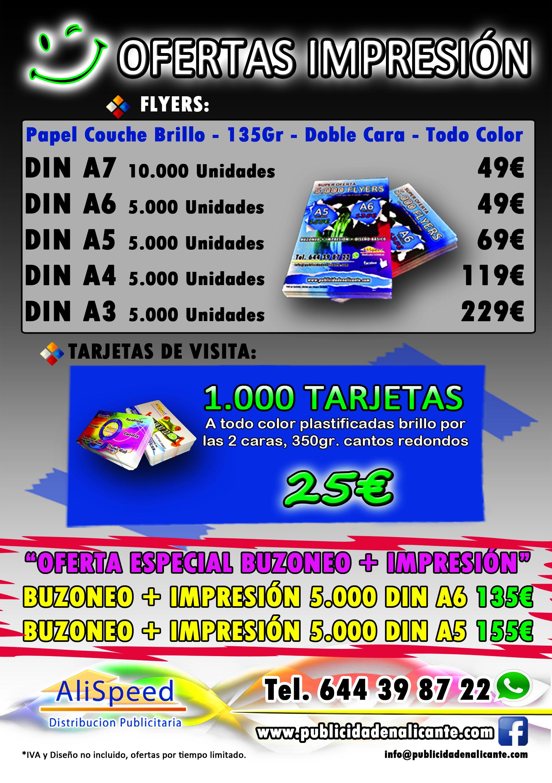 Ofertas de Impresión en Alicante